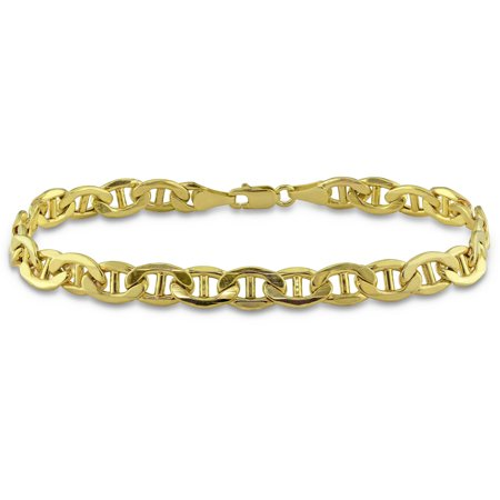 - Asteria Men's 10kt Yellow Gold Mariner Bracelet, 9