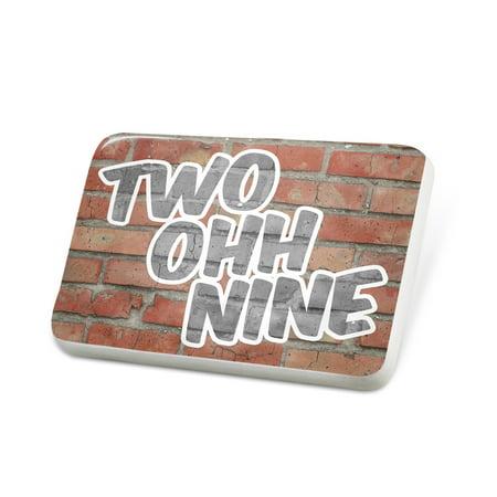 Porcelein Pin 209 Modesto, CA brick Lapel Badge – NEONBLOND