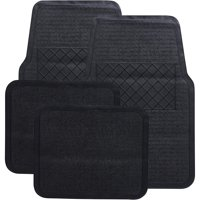 Auto Drive Black Heavy-Duty Universal Fit Floor Mat Set, 4 Piece