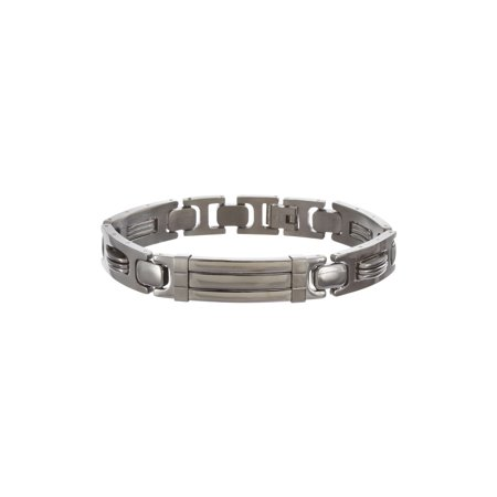 Black-Tone Stainless Steel Polished Textured Wire Design Link