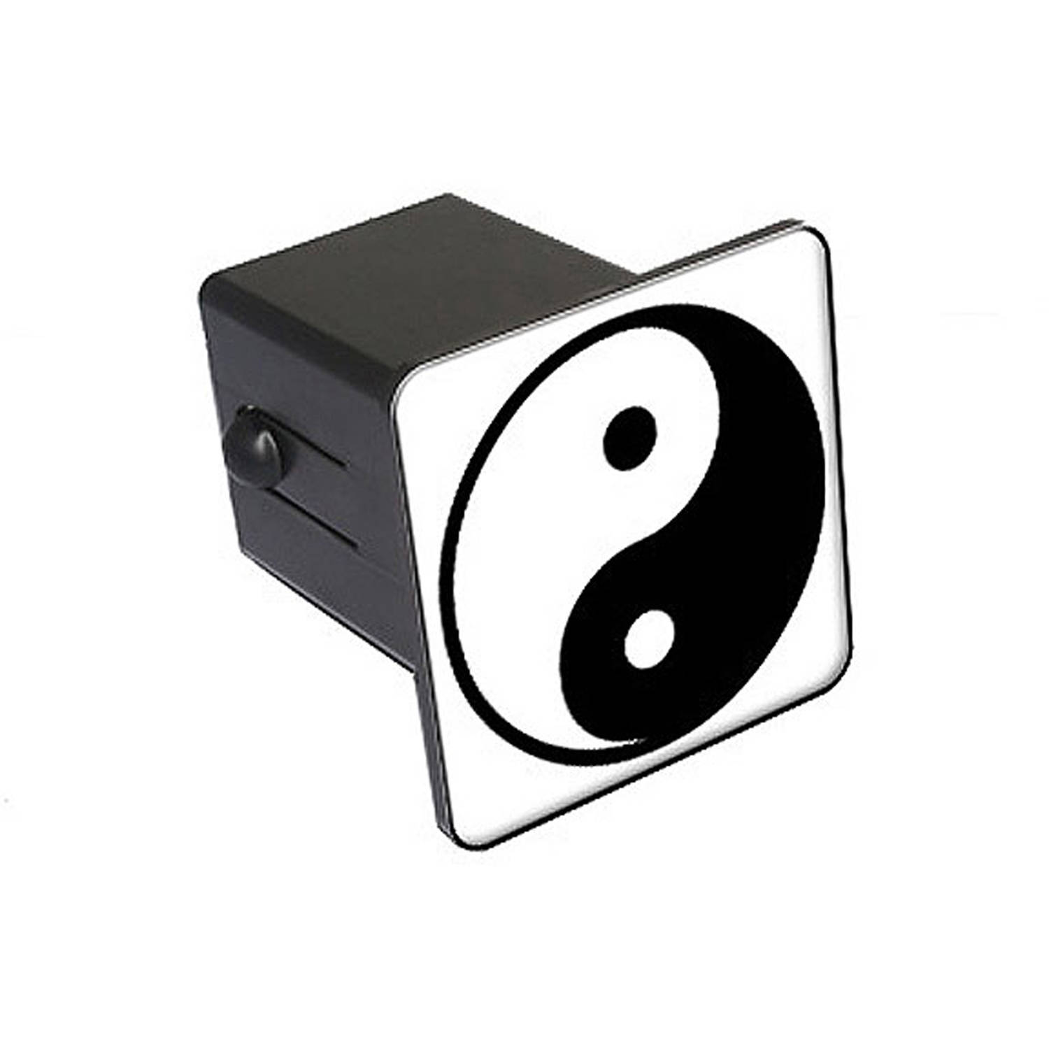 "Yin And Yang 2"" Tow Trailer Hitch Cover Plug Insert"