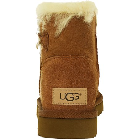 343257c88da Ugg Women's Mini Bailey Button II Black High-Top Sheepskin Boot - 5M