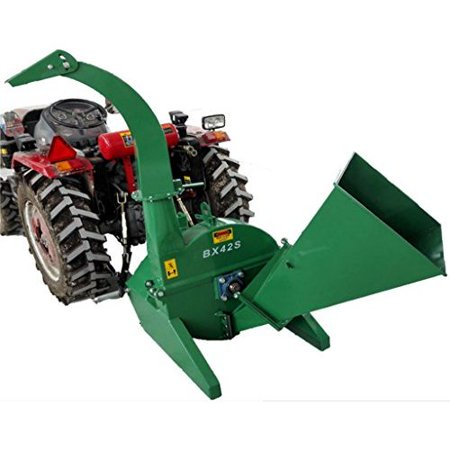 Wood Chipper Tractor Attachment PTO Cutter Leaf Mulcher Shredder, Tractors 18 to 50HP, 4 x 10 Inch Chipper Capacity, 1 Year Parts Warranty, Model