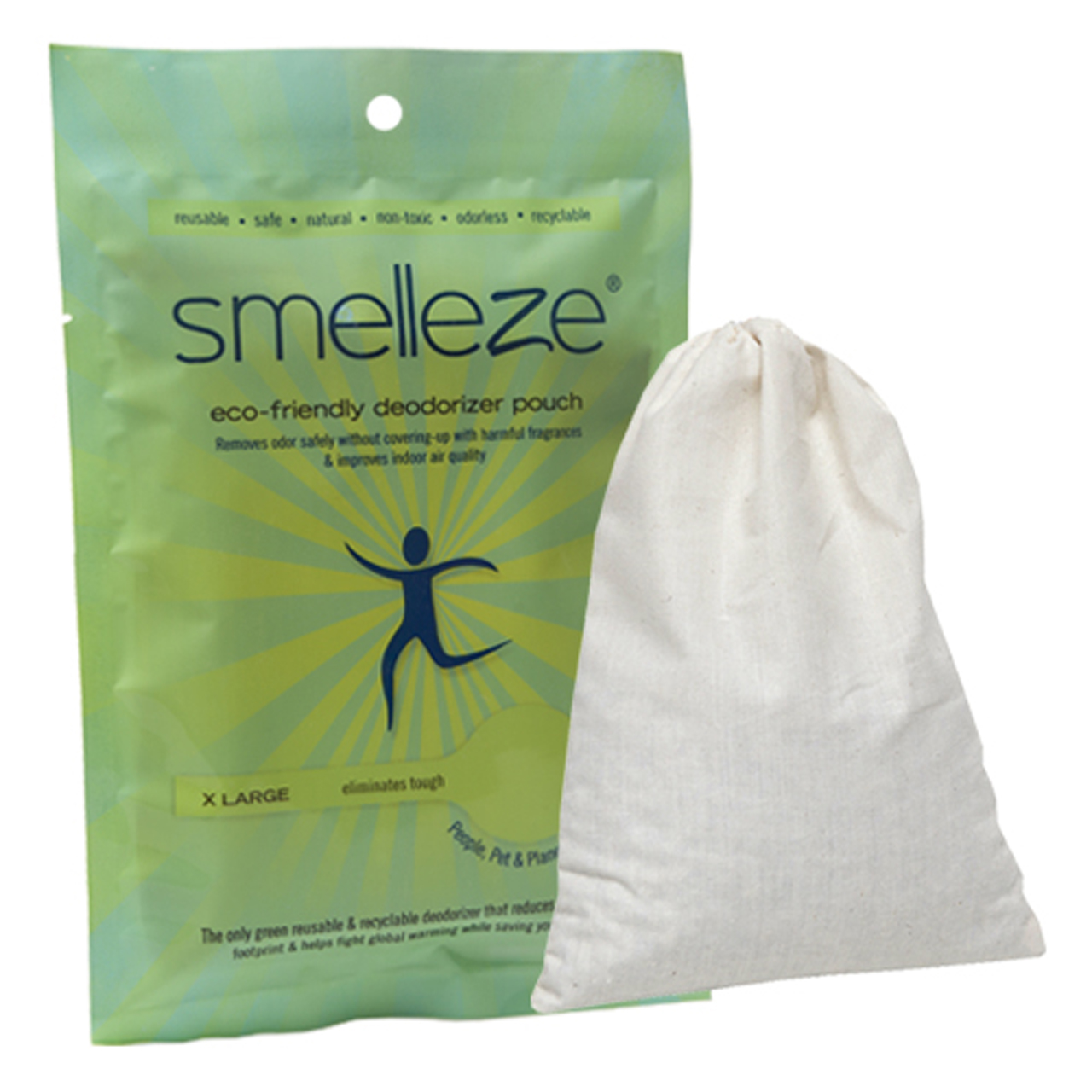 SMELLEZE Reusable Industrial Odor Removal Deodorizer Pouch: Rids Chemical Odor Safely in 300 Sq. Ft.