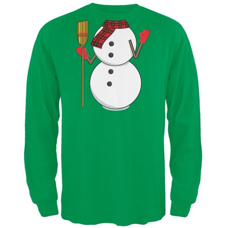 Snowman Body Costume Green Long Sleeve T-Shirt Body Glove Long Sleeve Shirt