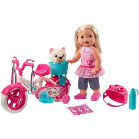 Little Mommy Learn To Ride Doll with Pink Training