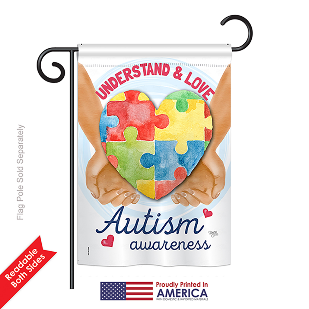 Breeze Decor Understand Autism Awareness Inspirational Everyday Support Impressions Decorative Vertical Garden Flag 13 X 18 5 Printed In Usa Walmart Com Walmart Com