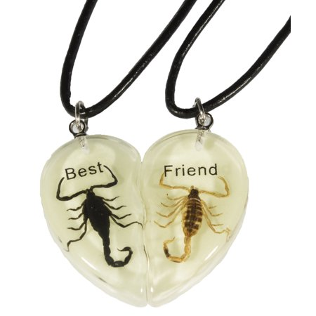 Glow in the Dark Acrylic Scorpion Best Friends Heart Cord - Heart Glow