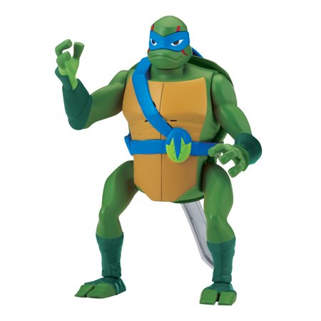 Rise of the Teenage Mutant Ninja Turtle Leonardo BackFlip Attack Deluxe Figure](Nickelodeon Teenage Mutant Ninja Turtles Leonardo)