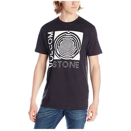Volcom Mens Sinner Short Sleeve T-Shirt (Black, Large)