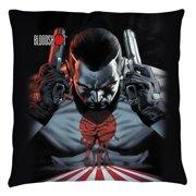 Bloodshot Guns Drawn Throw Pillow White 14X14