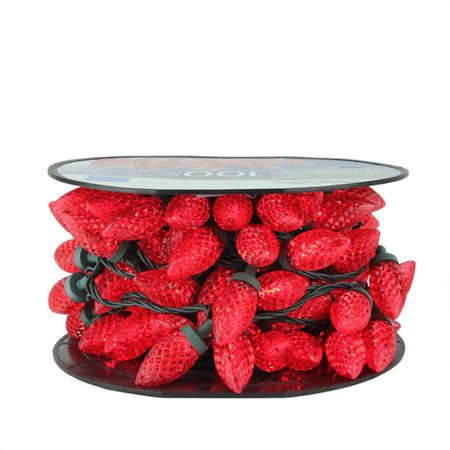 Brite Star 100ct C9 LED Faceted String Lights Red - 41
