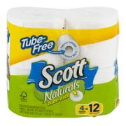 Scott Tube Free Bathroom Tissue, 4 Mega Rolls