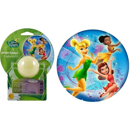 Disney Fairies Led Plugin Night Light   Tinkerbell Iridessa Rosetta  The Disney Fairies Night Light Projects A 3Ft Image On A 8 12 High Ceiling  Wall Or Floor        By Projectables