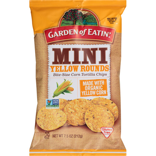 Garden of Eatin' Mini Yellow Rounds Bite-Size Corn Tortilla Chips, 7.5 oz, (Pack of 12)