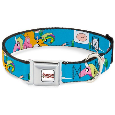 Dog Collar Seatbelt Buckle Adventure Time Adventure1 In Clouds 15 to 26 Inches 1.0 Inch Wide (Dog Cloth Collar)
