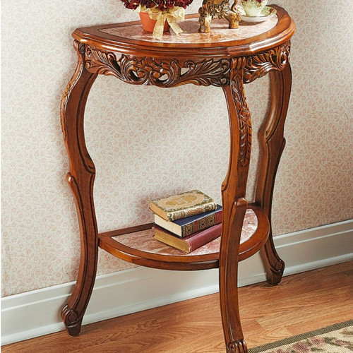 Design Toscano Lady Juliet's Marble Topped Console Table