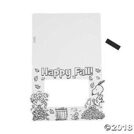 Peanuts Color Your Own Fall Picture Frame - Owl Photo