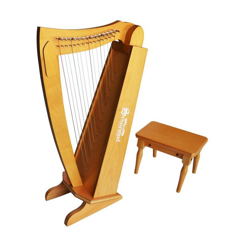 15 String Harp w/ bench