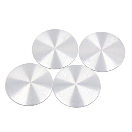 4Pcs Silver Tone Aluminium Alloy 40mm Dia Car Wheel Center Hub Cap Sticker