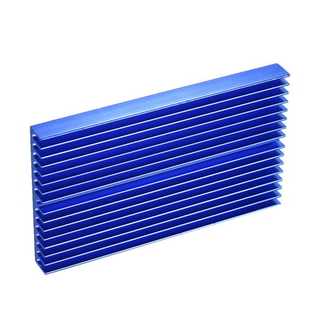 Aluminum Alloy Heat Sink Module Cooler Radiator Blue Oxidation Heatsink with 16 Fins for High Power Amplifier Transistor Semiconductor (Gold Transistor)