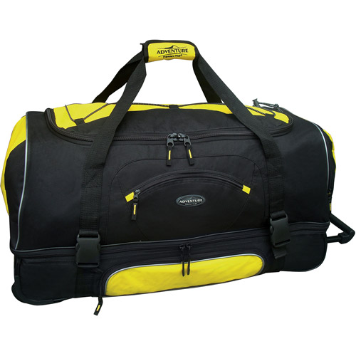 "Travelers Club 30"" Drop-Bottom Rolling Duffel with Telescopic Handle"