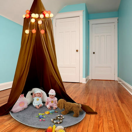 Bed Curtain (EECOO Multicolor Round Dome Hanging Bed Canopy Mosquito Net Curtain for Baby Kids Playing Home Decor,Bed Netting,Mosquito Net Curtain )