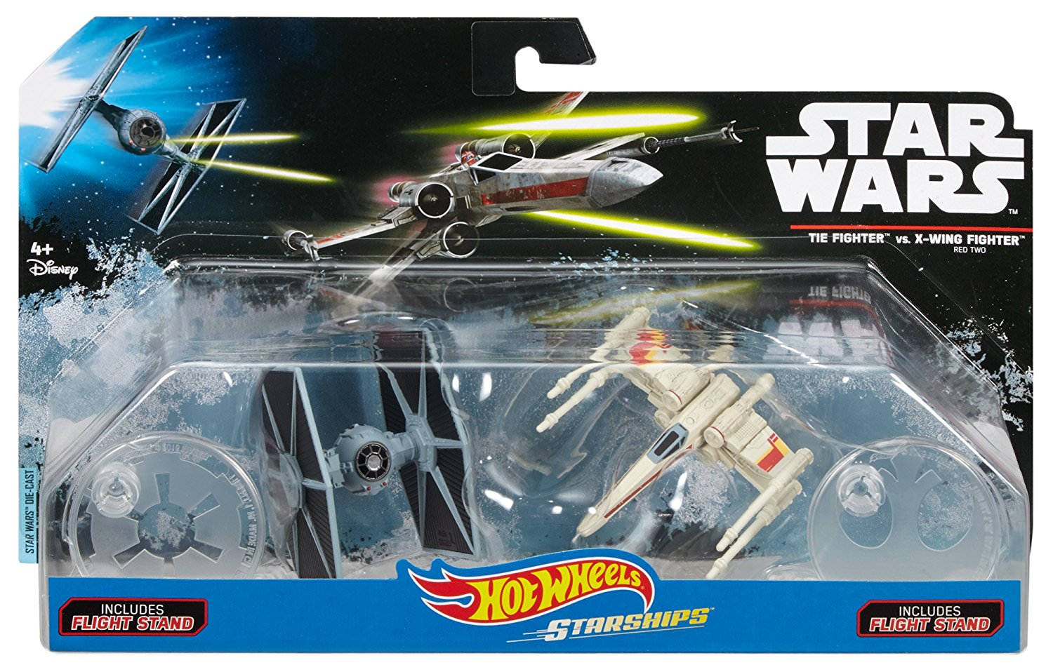 Disney Hot Wheels Starships Star Wars Rogue One X-Wing Fighter Red Five W// Stand