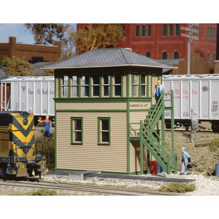 Walthers Cornerstone HO Scale Building/Structure Kit Interlocking Switch Tower