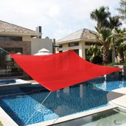 Apontus Patio Lawn Garden Sun Shade Sails (18' x 18', Red)