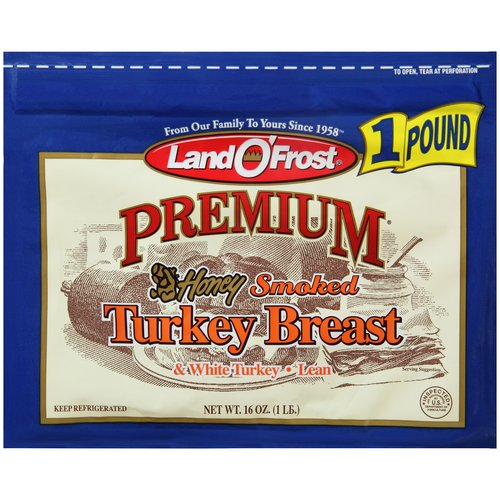 Land O'Frost Premium Honey Smoked Turkey Breast, 16 oz
