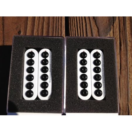 - Seymour Duncan SH-8 Invader Humbucker Pickup SET White Ceramic Neck & Bridge - Part Number: 1102-31-W_11102-29-CC-W