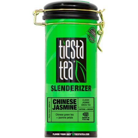 (Tiesta Tea Slenderizer, Chinese Jasmine, Loose Leaf Green Tea Blend, Medium Caffeine, 4.5 Ounce Tin)