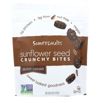 Somersaults Crunchy Sunflower Seed Bites - Dutch Cocoa - Case Of 6 - 6 Oz.