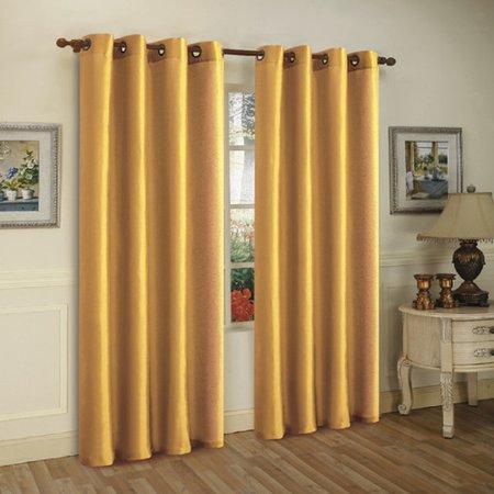 J&V Textiles Solid Semi-Sheer Grommet Curtain Panel (Set of 3) (Wayfarer White)