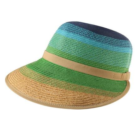 SUN N SAND ACCESSORIES - Women s Striped Sun Hat - Large Wide Brim ... bbf870b2f48