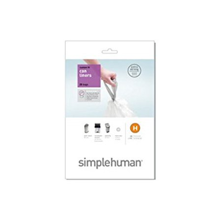 SIMPLEHUMAN LINER H 20PK Simple Human Liners