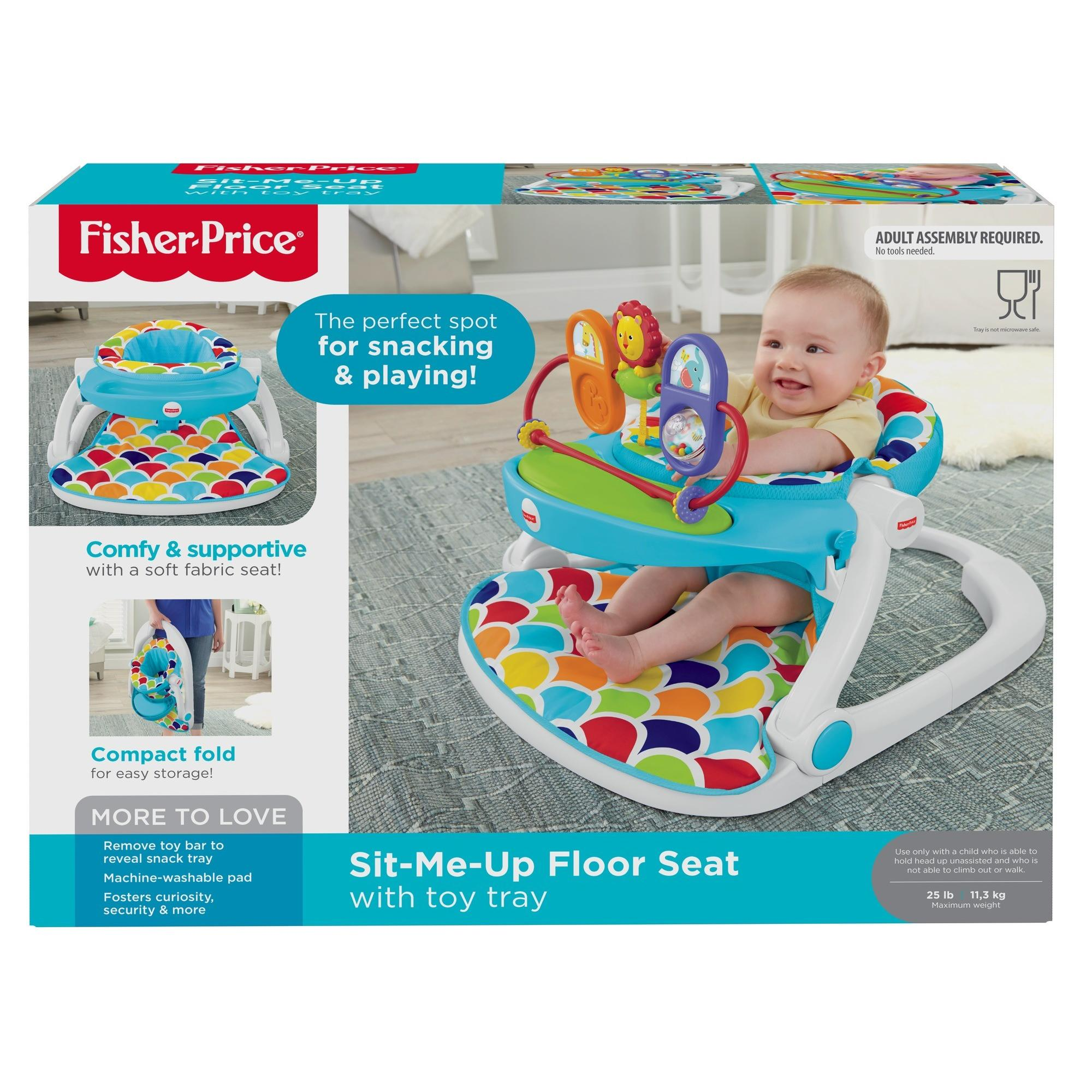7fb25be1ac1 Fisher-Price Sit Me Up Floor Seat With Toy Tray - Walmart.com