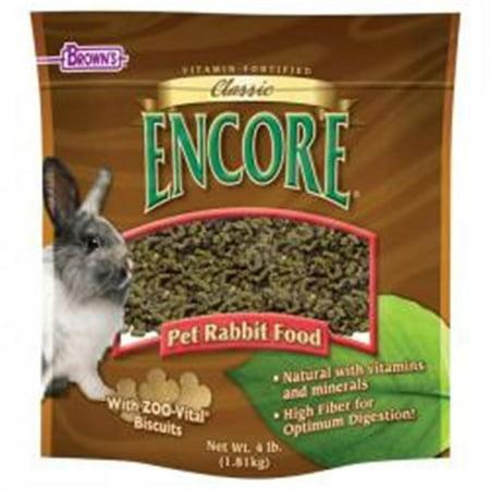 Brown's Encore Classic Rabbit Small Animal Food, 4 Lb