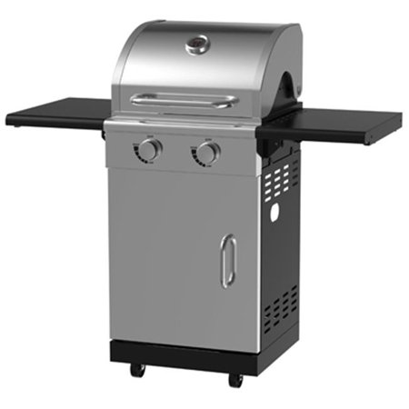 BG1762B 2 Burner Stainless Steel Pedestal Gas Grill