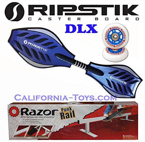 BLUE Razor Rikstik DLX Castor Board with Extra set of Rip...