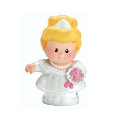 Fisher Price Little People Interactive Disney Princess Castle Palace Fairytale Replacement CINDERELLA With Wedding Dress Pink Base 2012 - Cool People To Dress Up As