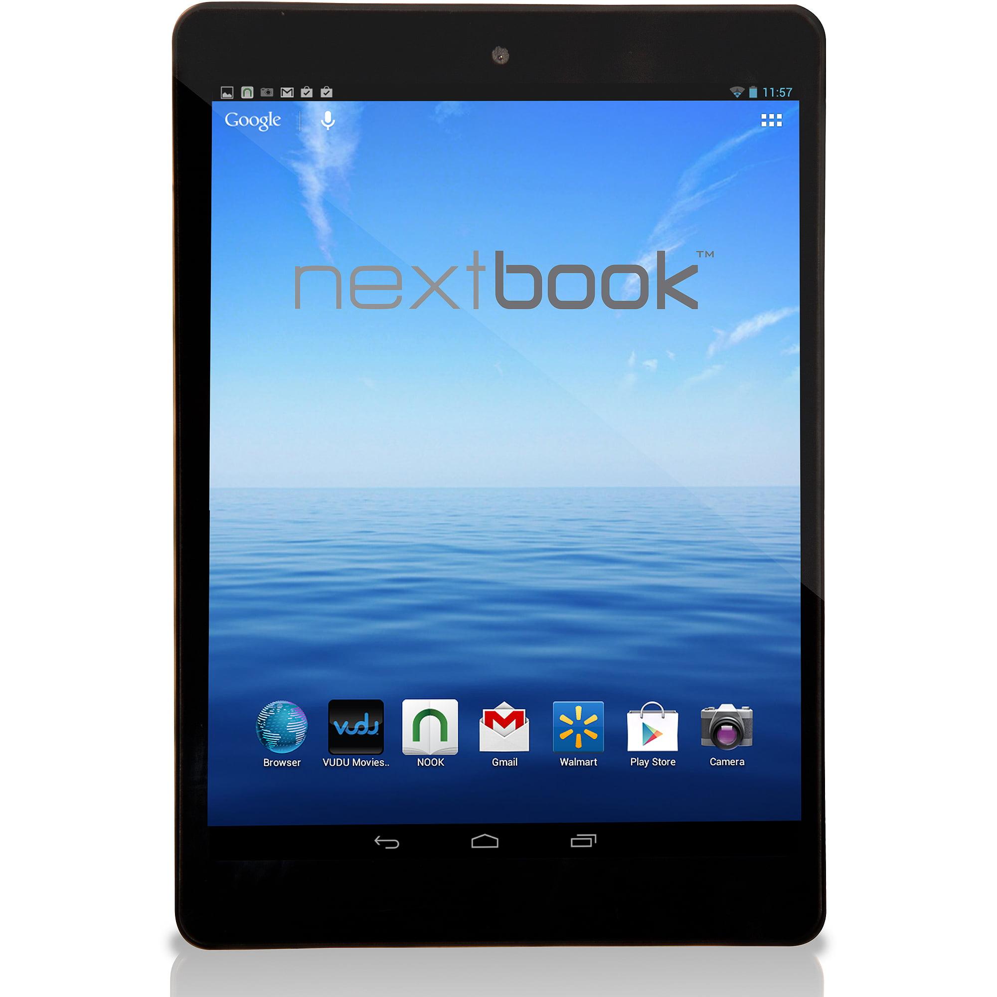 Nextbook NX785QC8G Tablet PC - ARM Cortex A9 RK3188 1.6 GHz Quad-core Processor - 1 GB DDR3 RAM - 8 GB Storage - 8.0-inch Display - Android 4.2 Jelly Bean - Wi-Fi - Black