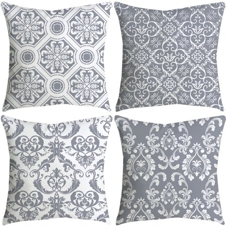 "Set of 4 Decorative Blue and White Porcelain Throw Pillow hotsales Cover 18"" x 18"" (Porcelain Pillow)"