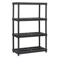Deals on Juggernaut Storage 4-Shelf Resin Shelving 600 lb Capacity