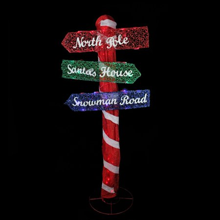 Northlight LED Elegant Indoor/Outdoor Christmas Folding Road Sign Coffee Outdoor Led Sign