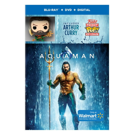 Aquaman (Walmart Exclusive) (Blu-ray + DVD + Digital Copy + Funko Pop Keychain)