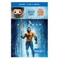 Aquaman (Walmart Exclusive) (Blu-ray + DVD + Digital Copy + Funko Pop Keychain)