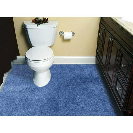 Customizable 5'x6' Plush Wall-to-Wall Bathroom Carpeting