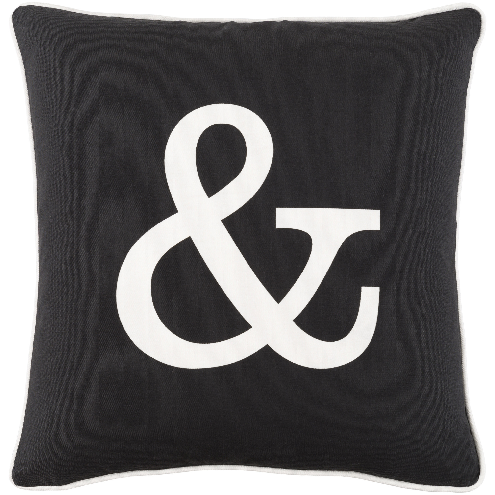 """Artistic Weavers Glyph Ampersand 18"""" x 18"""" Pillow Cover"""